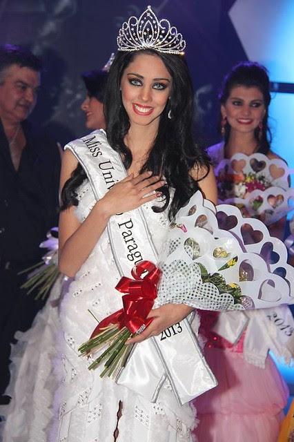 Guadalupe Gonzáles después de ser coronada Miss Universo Paraguay 2013 (Foto 2)