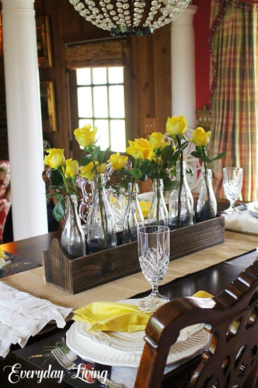 Tablescape Tuesday: Eleven Yellow Roses