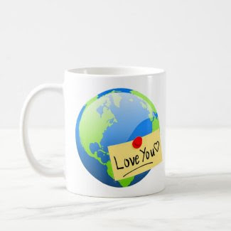 earth valentine note mug mug