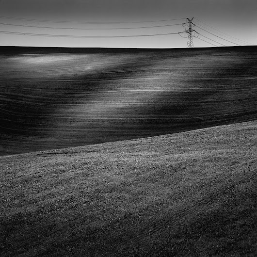 Landscape with energy (2014) Black & white photograph (Giclée) by Tomasz Grzyb