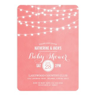 Summer String Lights Baby Shower Invitation
