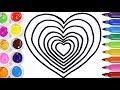 Dibujos De Corazones Con Color