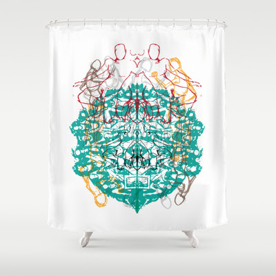 doodles Shower Curtain by Sandeep Barot