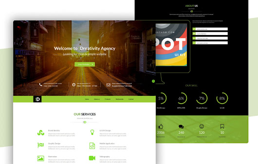 Dreativity a Personal Portfolios Flat Bootstrap Responsive Web Template by W3layouts