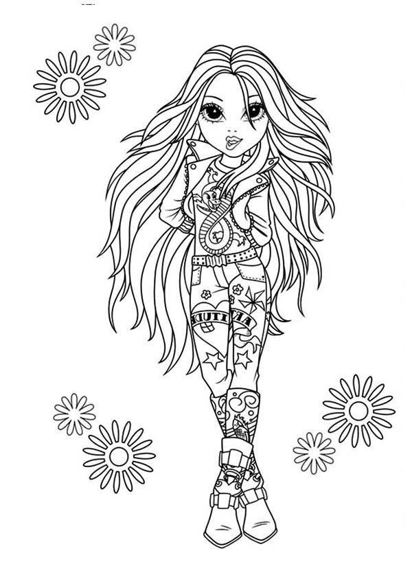 Avery the Rock Star in Moxie Girlz Coloring Pages 600x834