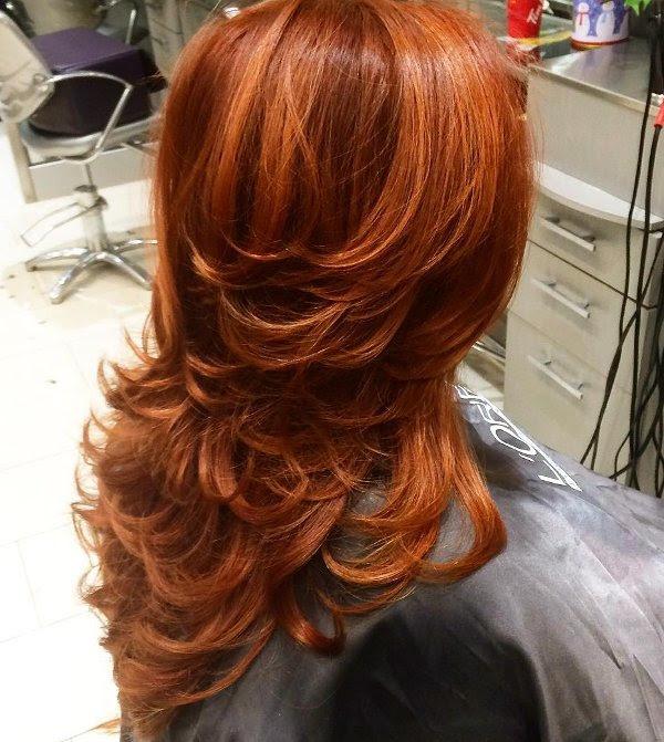 Kupfer Rote Haarfarbe Allefrisurende