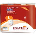 Tranquility ATN (All-Through-the-Night) Brief Large, Waist 45 - 58, 12 ea by Pharmapacks