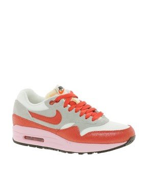 Image 1 ofNike Air Max 1 ND Grey/White/Red Trainers