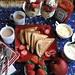 Potato Masala Sandwich & Mixed Fruit Breakfast