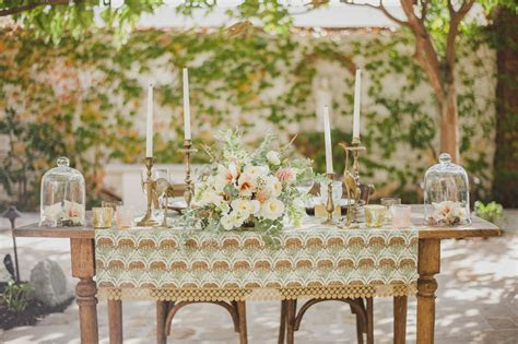 Mint   Brass Vintage Wedding Inspiration   Atelier Christine