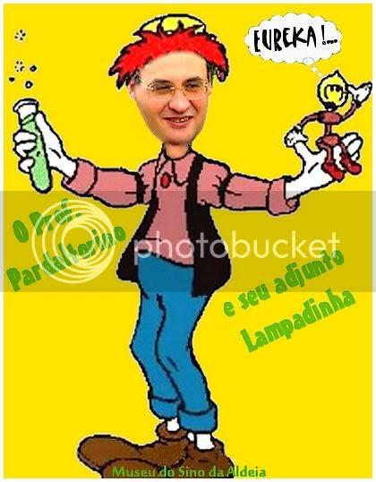 Museu 119 - O Prof. Pardaltorino e seu adjunto Lampadinha