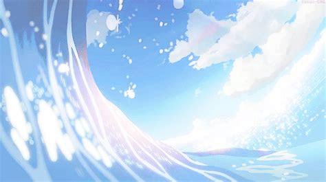 anime gif aesthetic wave