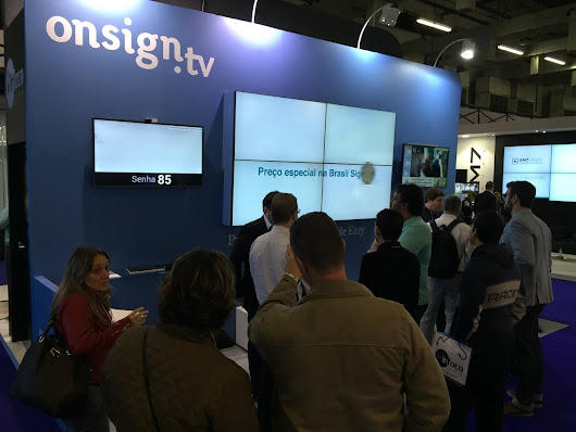OnSign TV at Brasil Signage Expo