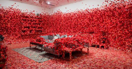 Yayoi Kusama's 'Flower Obsession' Invites Guests to Cover a Domestic Interior With Faux Blossoms