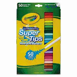 Crayola Washable Super Tips Markers with Silly Scents, Assorted Colors, 50 Count