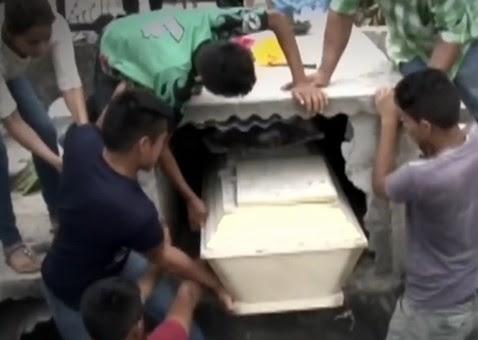 'Gritos de morta' fazem caixão ser aberto um dia após enterro