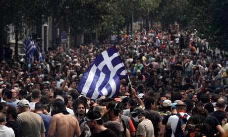 Greek anti-austerity protests in Athens