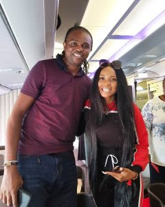 Actress Iyabo Ojo Pictured With Super Eagles Legend, Kanu