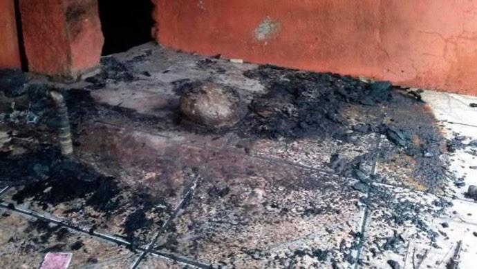 Casa de Patrícia Moreira é incendiada (Foto: Arquivo pessoal)