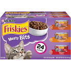 Friskies Meaty Bits Variety Pack Wet Cat Food - 24 cans, 5.5 oz each