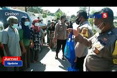 Warga Kapetakan dan Suranenggala Ucapkan Terimakasih Pada Polsek Kapetakan Atas bantuan beras
