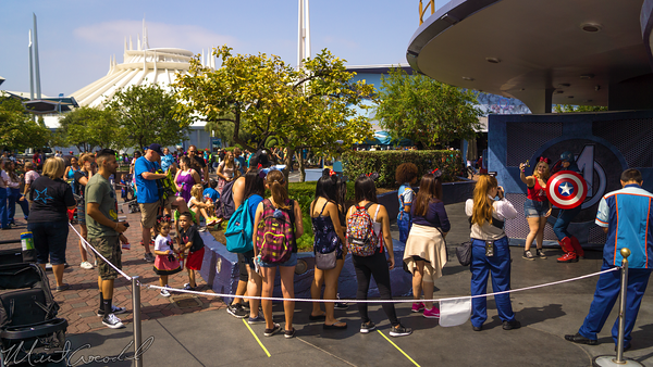 Disneyland Resort, Disneyland, Avengers, Tomorrowland, Meet, Greet, Captain, America