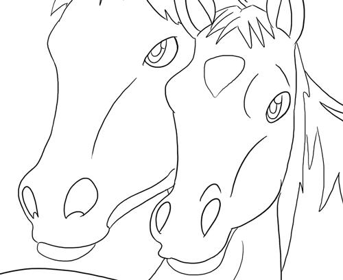 Ausmalbilder mit Pferden - kostenlos - Ausmalbilder