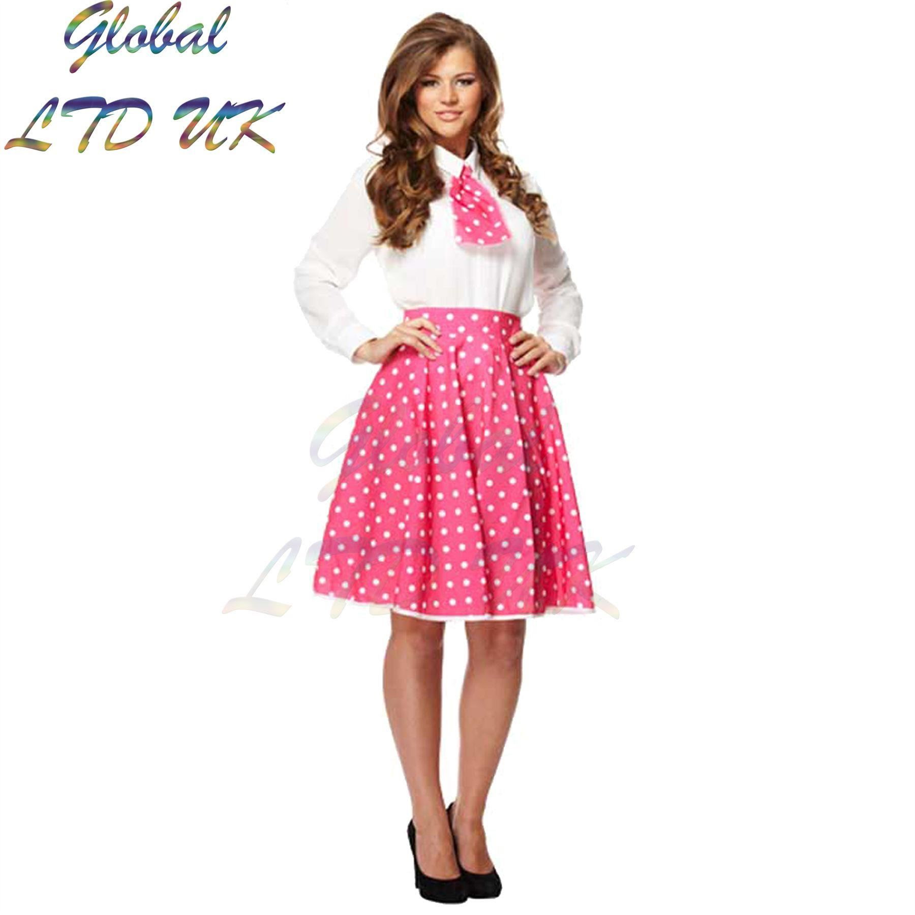 polka dot skirt dress and scarf outfit girls fancy costume