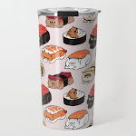 Sushi Persian Cat Travel Mug by Huebucket - 20 oz