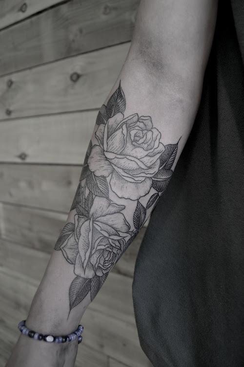 Black Roses Tattoo On Arm Best Tattoo Design Ideas