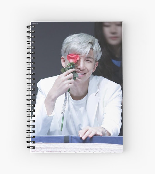 'BTS ' Spiral Notebook by Pahhs