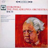 Leopold Stokowski and the Philadelphia Orchestra play the Brandenburg Concerto # 5 (Columbia LP cover)