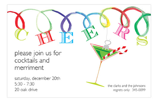 Cheer Loops Christmas Cocktail Invitations