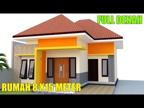 trend desain rumah modern minimalis 1 lantai 8 x15m 3