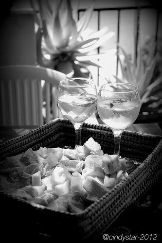 aperitif on the terrace