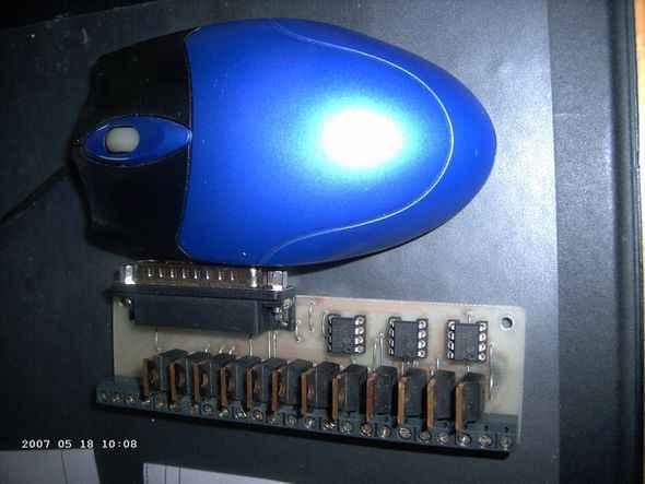 pic12c508-3 trục CNC-mạch-board-schema-bước-motor
