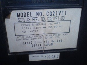 model televisi Sanyo CG21VF1