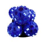 Glitter Mirror Disco Ball Ornaments Hanging Decor Royal Blue