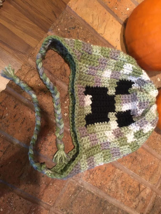 Graph Creeper Hat - Crochet creation by di22 - Crochet.Community