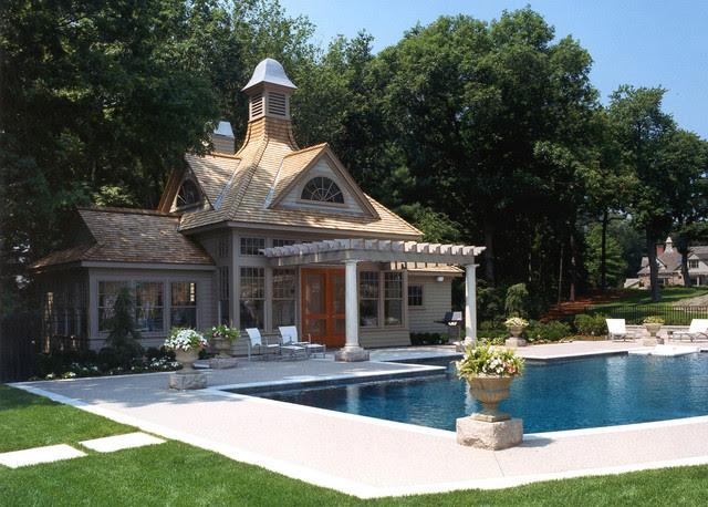 Prides Pool House - modern - pool - boston - by Siemasko + Verbridge