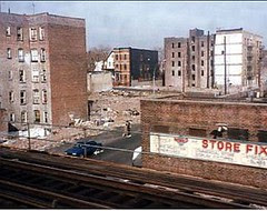 Melrose area of South Bronx, NYC, before revitalization (via MAP-iiSBE)