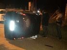 Filho capota carro que levava corpo da mãe (Divulgação/Força Tática Regional)