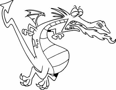 coloring book pages fiery dragon coloring pagespour