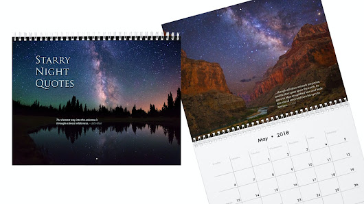 Milky Way and Starry Nights Calendar with Quotes