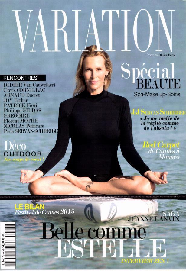 Estelle Lefébure en une du magazine Variation du 21 juillet.