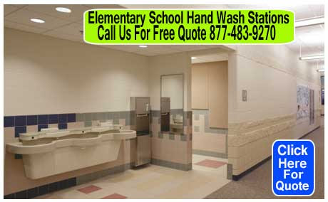 Elementary School Hand Wash Stations Keeps Students Clean & Germ Free | XPB Offers Lockers, Restroom Partitions, Sinks, Accessories & More - 877-483-9270