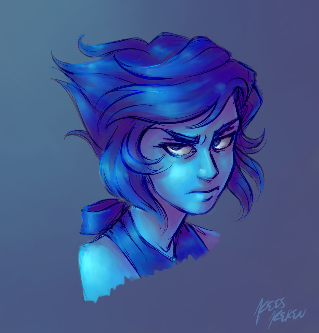 A quicko thing, because I really like drawing angry Lapis apparently