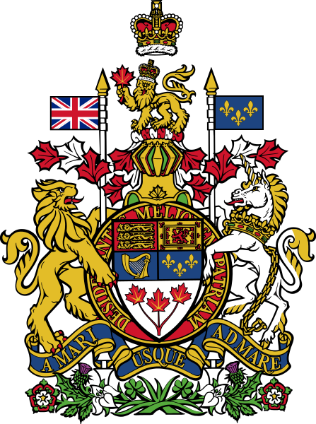 The Coat of Arms of Her Britannic Majesty's Kingdom of Canada