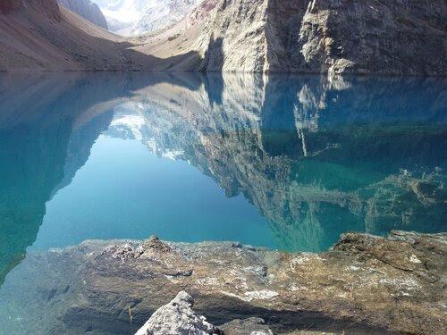 Утро. Озеро Большое Алло. Фаны. Таджикистан. Август. 2011
