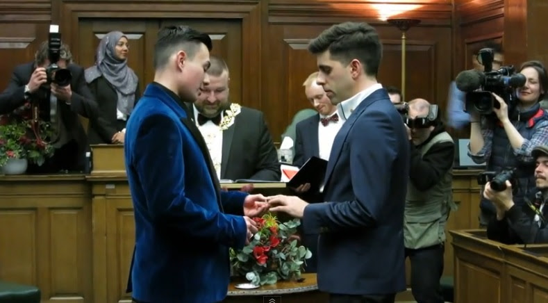 Watch The UK's First Gay Wedding Ceremony In London